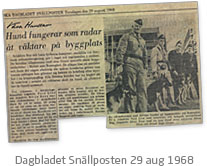 Dagbladet Snällposten 26 aug 1968